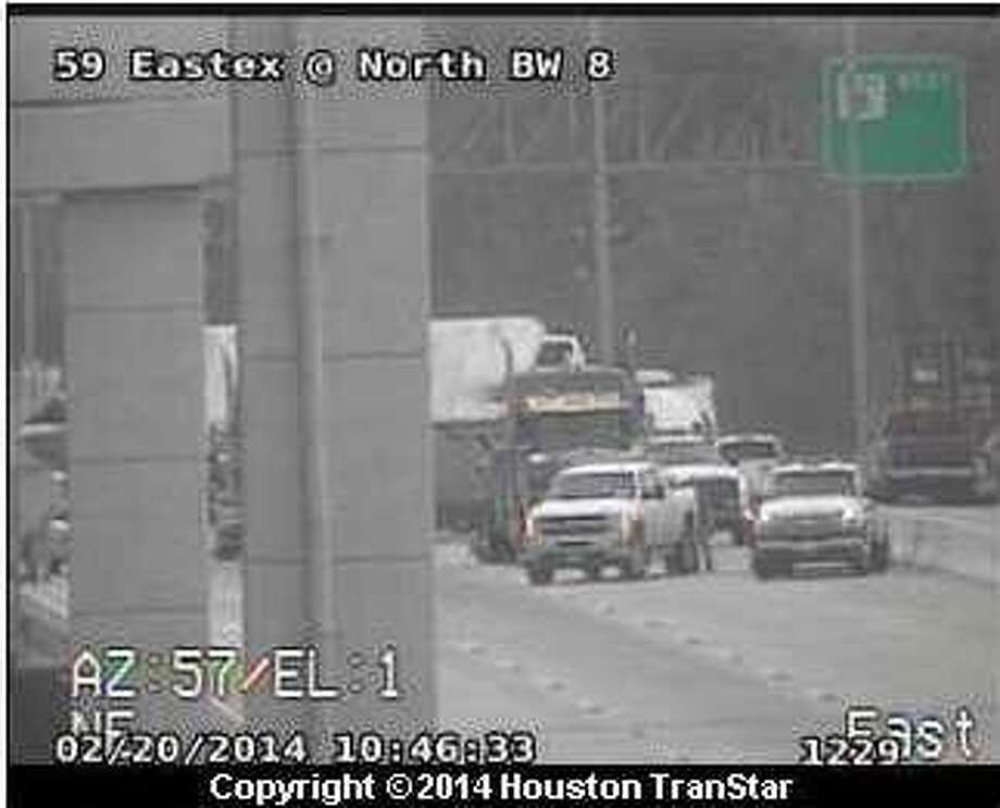 Portions of the Sam Houston Parkway are shutdown Thursday morning after a big rig overturned in northeast Houston.