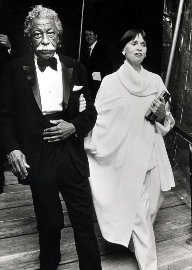 Gordon Parks and Gloria Vanderbilt during the Vogue Magazine 100th Anniversary at New York Public Library in New York City, 1993. Photo: Ron Galella, Ltd., WireImage