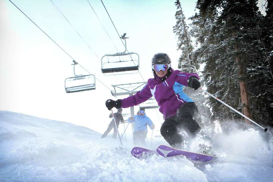 Copper Mountain in Summit County is a powder-rich destination for spring skiing in 2014. Photo: Tripp Fay, Copper Mountain / ONLINE_YES
