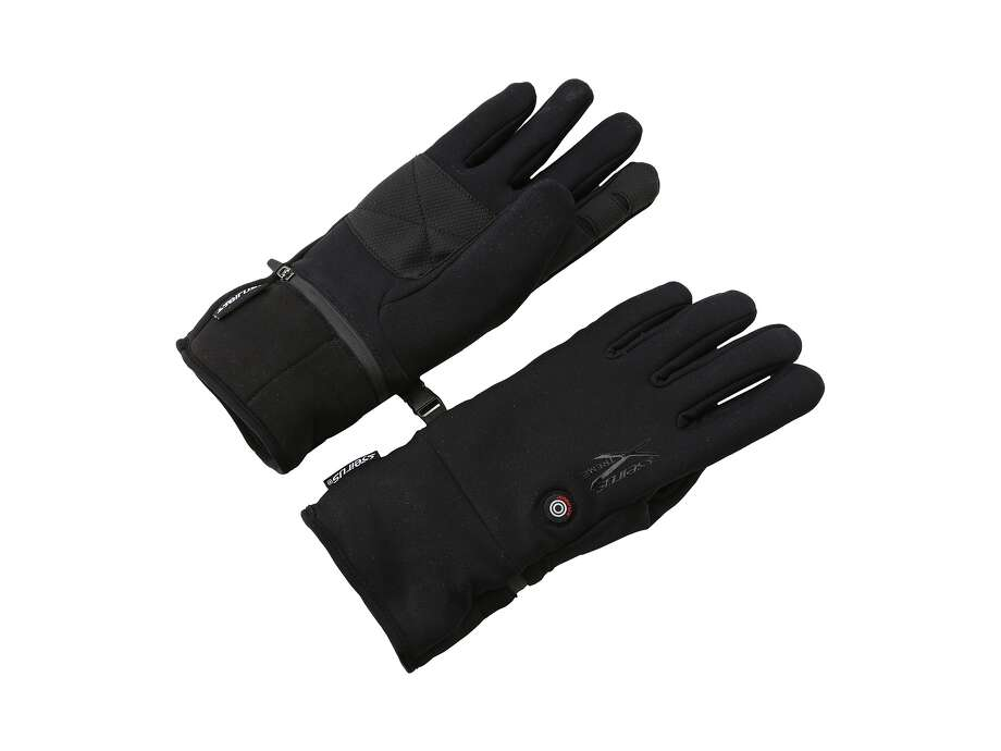 Heated gloves or mitts are a must for serious skiers. With rechargeable batteries, they radiate heat through thin skin on the top of the hand to warm up fingers. Seirus Heat Touch gloves and mitts are operated by a simple push button and the lowest setting keeps them warm all day. / Seirus