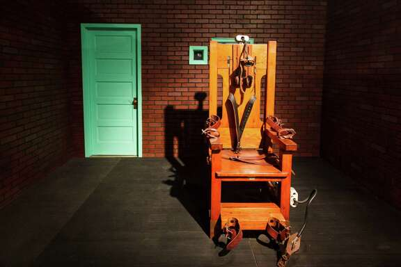 """Old Sparky,"" Texas' decomm-issioned electric chair, last put to death Houston's Joseph Johnson Jr. 50 years ago. This year, Texas has executed only seven inmates."