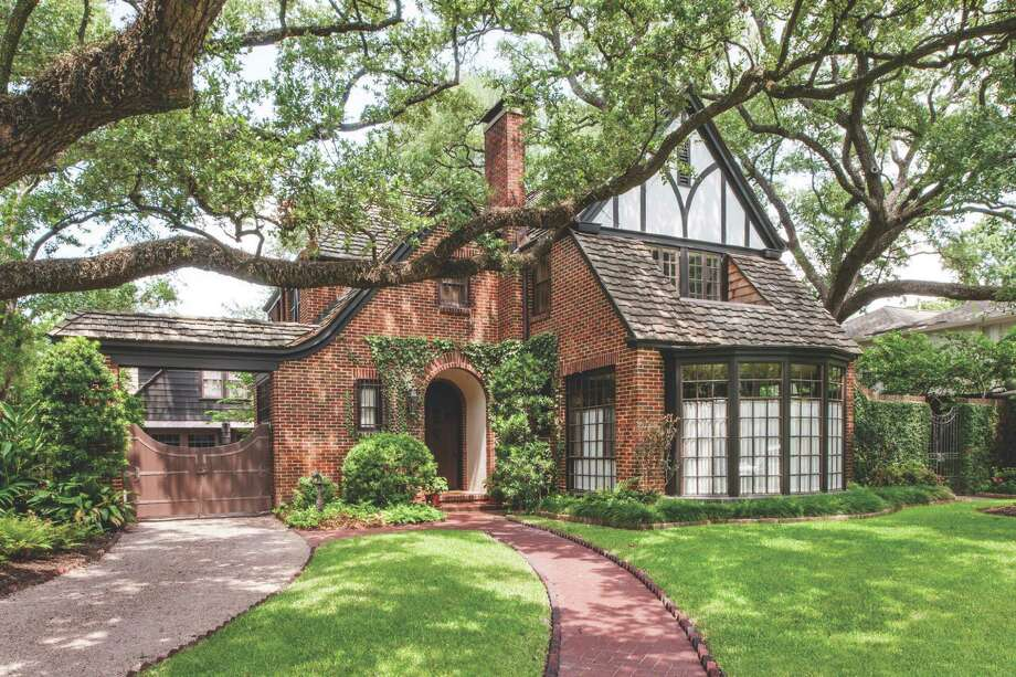The 1926 Tudor Revival house in the Museum District is one of the 2013 Preservation Houston Good Brick Award winners. Photo: Hester & Hardaway, Photographer / ONLINE_YES