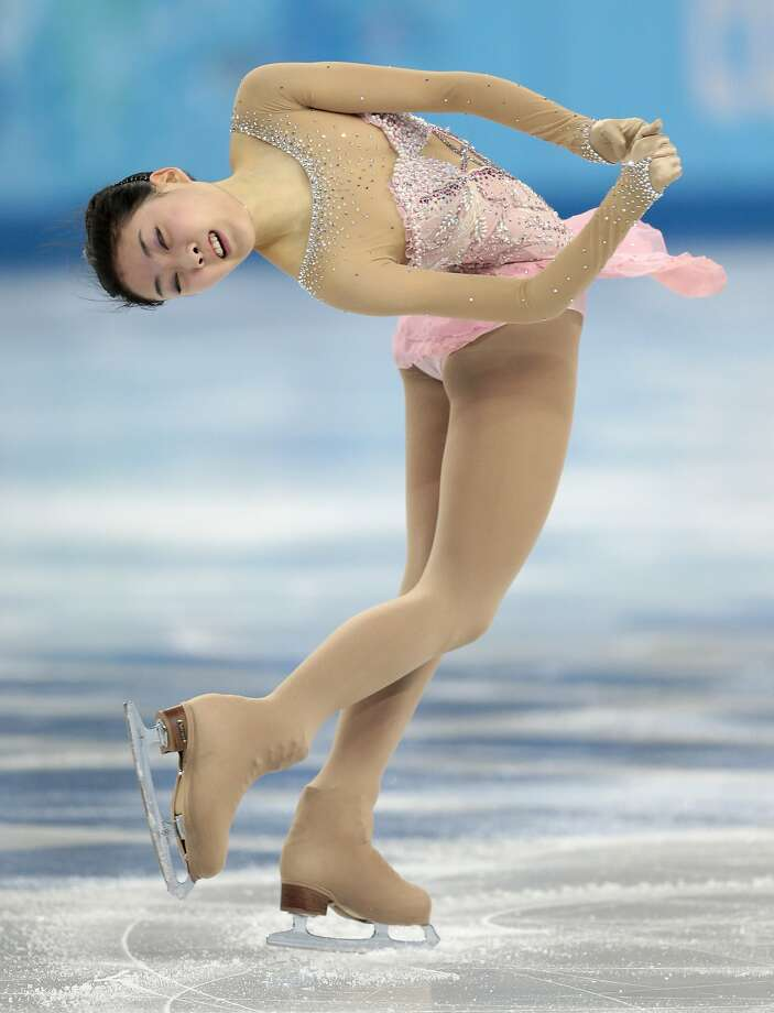 Li Zijun of China competes in the women's free skate figure skating finals at the Iceberg Skating Palace during the 2014 Winter Olympics, Thursday, Feb. 20, 2014, in Sochi, Russia.  Photo: Ivan Sekretarev, Associated Press