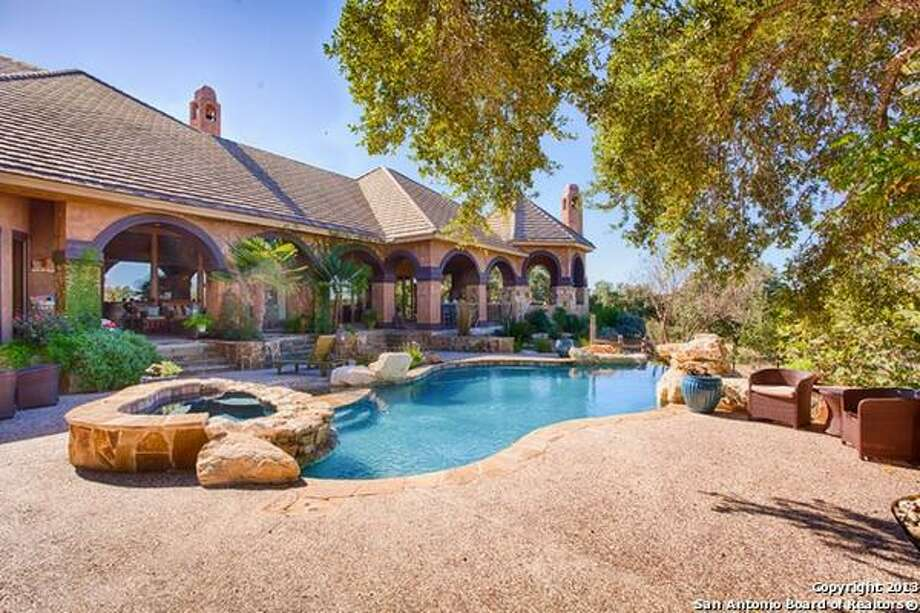 Elegant and privately gated estate set back on five secluded acres. Open floor plan features high ceilings, masterfully designed chef's kitchen, wine grotto, luxurious master suite, spa-like bath, workout room.Asking price: $2,300,000 - 602 Rio Cordillera, Boerne, TX 78006-5896FeaturesBedrooms: 5Full Baths: 5, 2 partial10,196 Sq FtListing: Keller Williams Realty Luxury Photo: San Antonio Board Of Realtors
