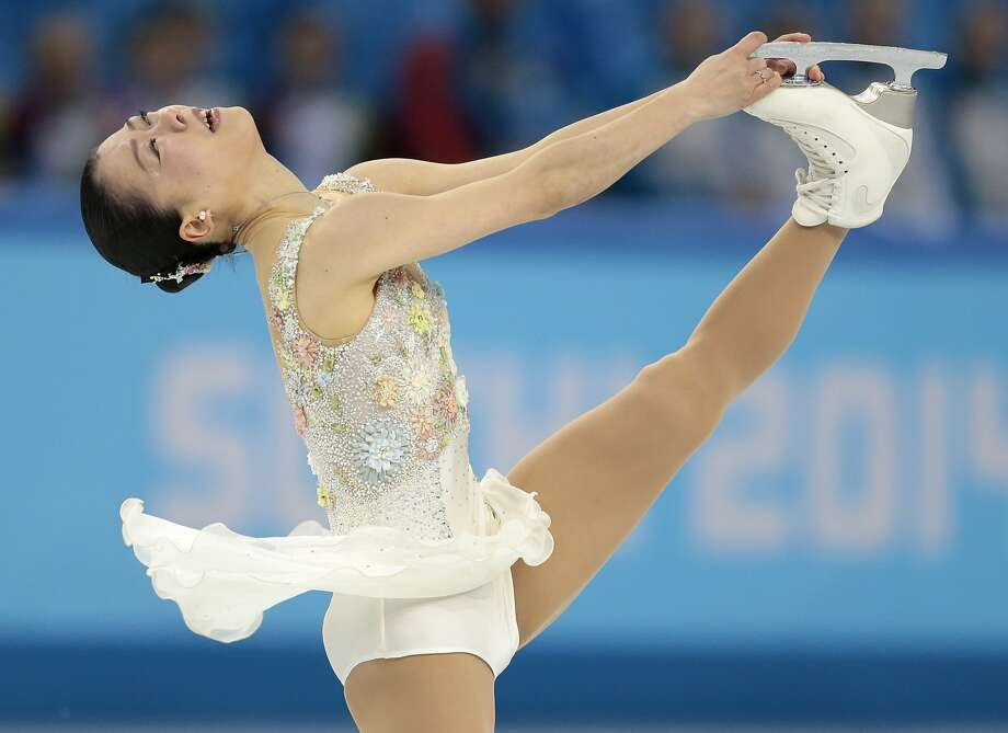 Akiko Suzuki of Japan competes in the women's free skate figure skating finals at the Iceberg Skating Palace during the 2014 Winter Olympics, Thursday, Feb. 20, 2014, in Sochi, Russia. Photo: Ivan Sekretarev, Associated Press