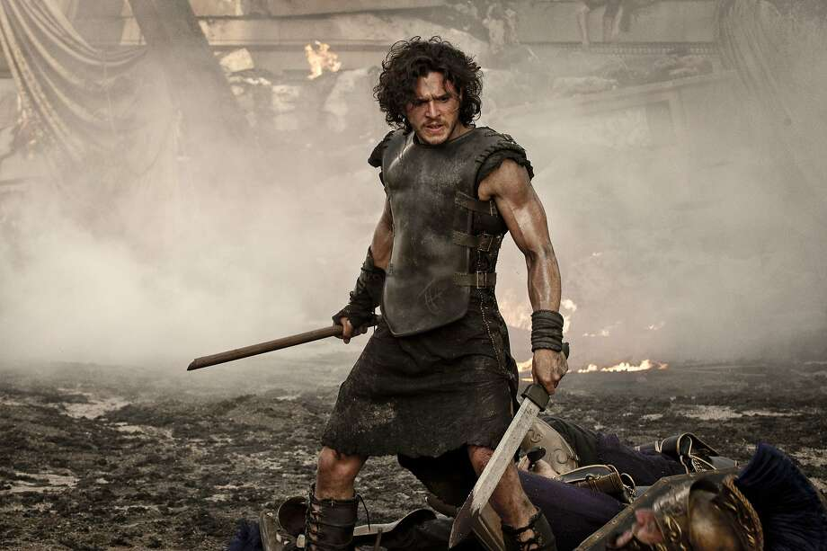 Milo (Kit Harington) in TriStar Pictures' POMPEII. Photo: George Kraychyk, Sony Pictures