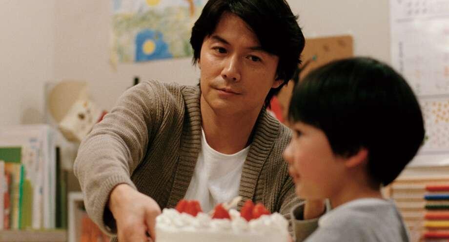 Masaharu Fukuyama  as Ryota Nonomiya (Father) and Keita Nonomiya as Keita Ninomiya (Son) in Hirozaku Kore-Eda s LIKE FATHER, LIKE SON.    2013 FUJI TELEVISION NETWORK, INC./AMUSE INC./GAGA CORPORATION. Photo: --
