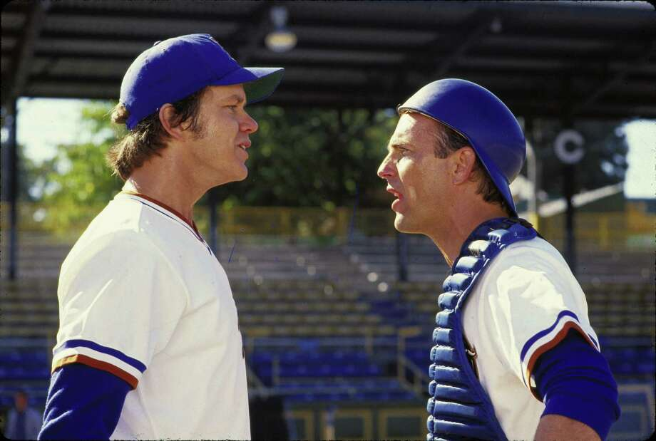 "Tim Robbins, left, and Kevin Costner star in ""Bull Durham."" Photo: ORION PICTURES"