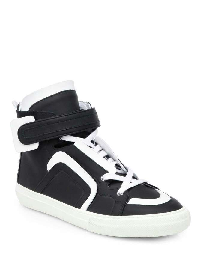 Pierre Hardy Neoprene Contrast High-top Sneakers, $845, at Saks Fifth Avenue Galleria Photo: Saks Fifth Avenue / ONLINE_YES