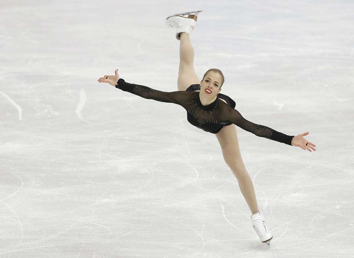 Carolina Kostner of Italy competes in the women's free skate figure skating finals at the Iceberg Skating Palace during the 2014 Winter Olympics, Thursday, Feb. 20, 2014, in Sochi, Russia.