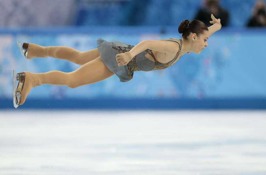 Adelina Sotnikova of Russia competes in the women's free skate figure skating finals at the Iceberg Skating Palace during the 2014 Winter Olympics, Thursday, Feb. 20, 2014, in Sochi, Russia.  Photo: Ivan Sekretarev, Associated Press