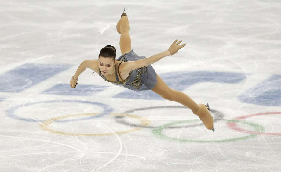 Adelina Sotnikova, a national champion in 2010 but too young for the Olympics, skates toward Russia's first women's title. Photo: Darron Cummings, Associated Press