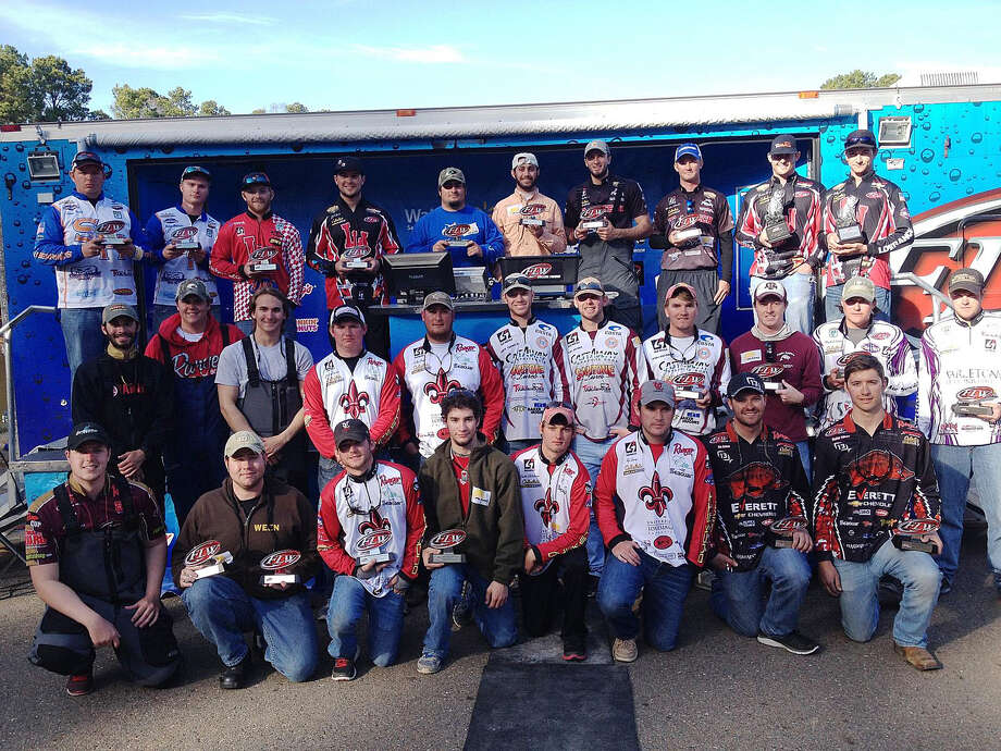 The top-15 team finishers from the Feb. 15 FLW College Fishing Southern Division event on Toledo Bend. Photo by Diana Hunt