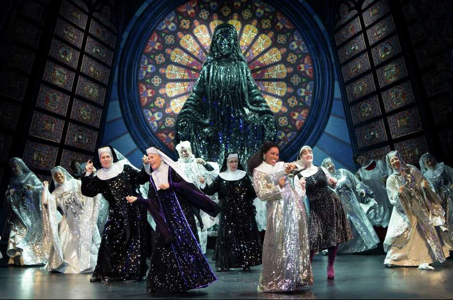 """The cast of the touring """"Sister Act,"""" now at Proctors (photo by Joan Marcus) / ©2011 Joan Marcus"""