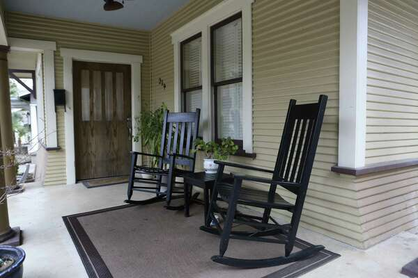 The front porch at the Monte Vista home of Paige Blend and Chris Berry is a retreat from the demands of daily life.