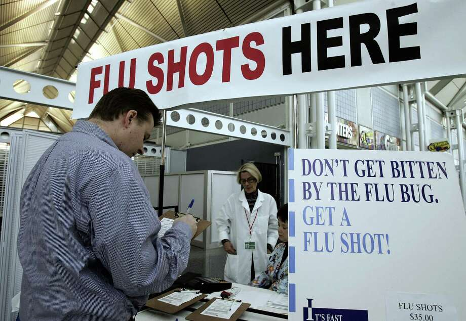 Flu activity in the state is still widespread and deaths from the contagious respiratory illness have climbed to 12, according to the Department of Public Health.A total of 707 people have been hospitalized with flu and 12 people have died. All were older than 45. Medical experts have said this year's flu activity is following a fairly typical trajectory. Flu season traditionally starts in October, with a peak in January or February. Last flu season was particularly difficult, with 11,511 positive flu reports and 57 flu-related deaths.What counties have seen the most flu cases? Photo: JEFF HAYNES, Connecticut Post / 2006 AFP