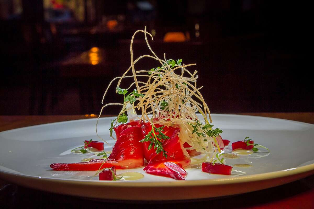 Iyasare in Berkeley made Michael Bauer's list of Top 100 Restaurants in part thanks to the Beet Cured Ocean Trout.