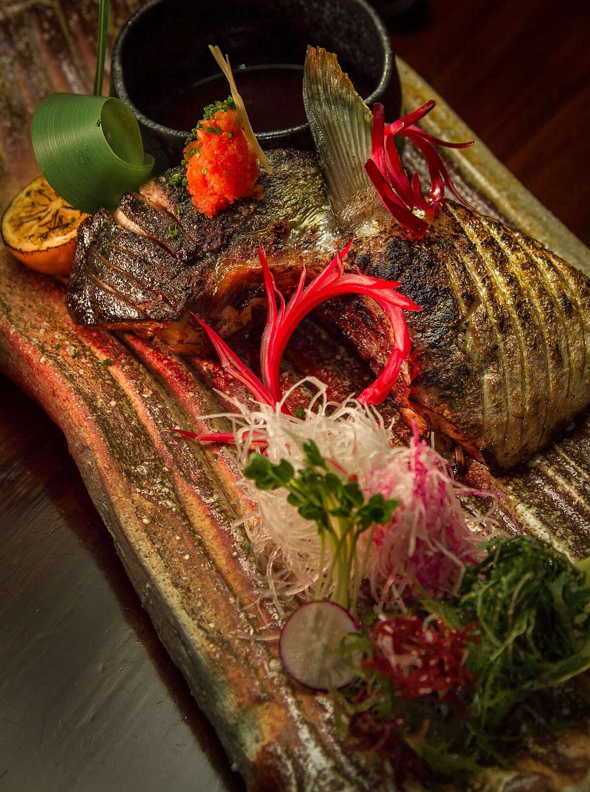 The Hamachi Collar at Iyasare restaurant in Berkeley, Calif., is seen on Monday, February 10th, 2014.