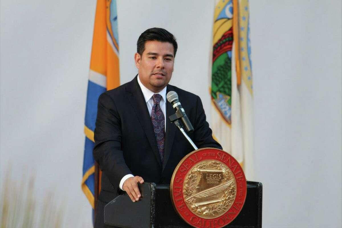 State SenatorRicardo Lara, D-Long Beach, above, and Toni Atkins, D-San Diegohave filed the Healthy California Act.