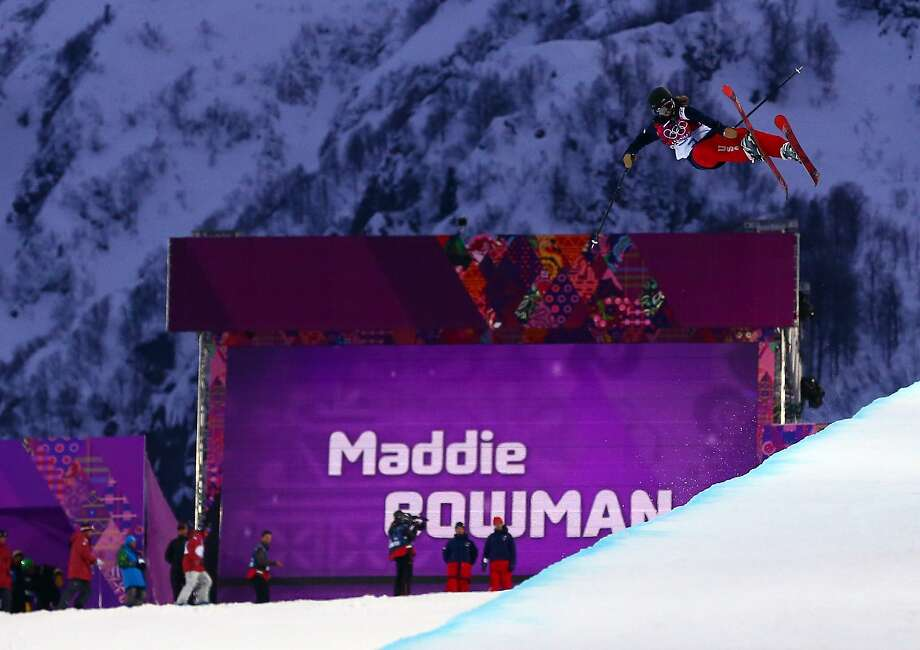 Maddie Bowman, 20, was third after qualifying, then had her two best runs. Photo: Guy Rhodes, Reuters