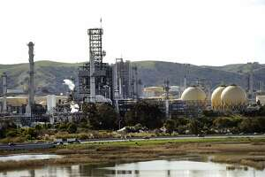 The Shell refinery in Martinez, Calif., shot in February 20, 2014.