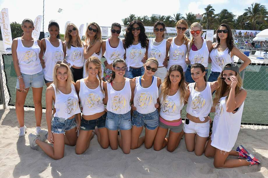 Meet the Sports Illustrated Swimsuit Beach Volleyball Tournament team. The annual swimsuit issue hit newsstands this week. Photo: Frazer Harrison, (Credit Too Long, See Caption)