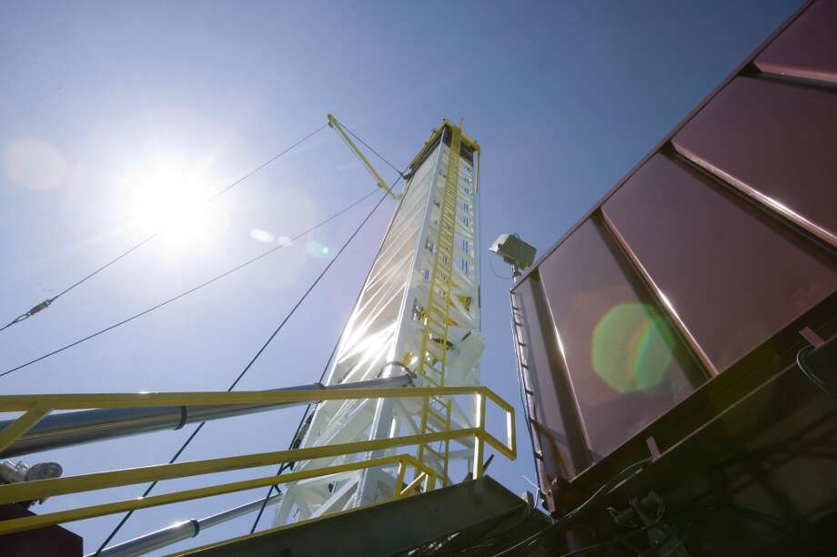 5. Fayetteville Shale  Total water use: 7.6 billion gallons Average water per well: 5.2 million gallons Number of wells: 1,449  [Photo: A Southwestern Energy drilling rig rises in Arkansas' Fayetteville Shale.] Photo: Wesley Hitt, Southwestern Energy