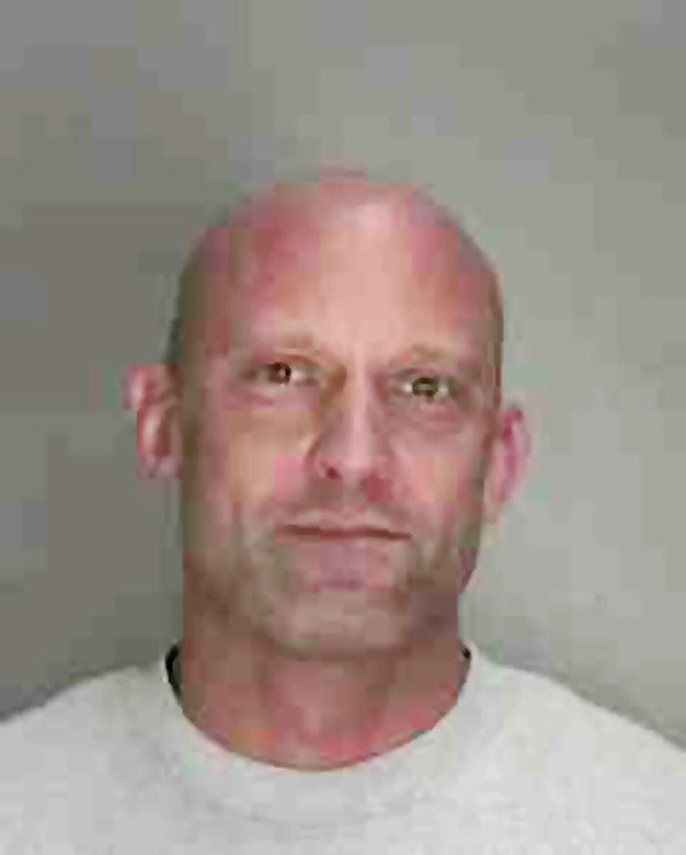 Police mugshot of Schenectady police Officer John Lewis.