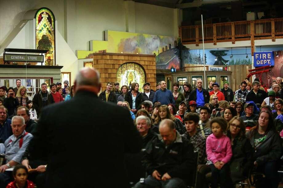 Aberdeen Mayor Bill Simpson speaks. Photo: JOSHUA TRUJILLO, SEATTLEPI.COM / SEATTLEPI.COM