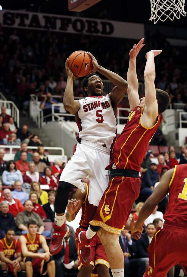 Stanford guard Chasson Randle, who scored a game-high 18 points, goes up for a shot in the first half. Photo: Robert Stanton, Reuters