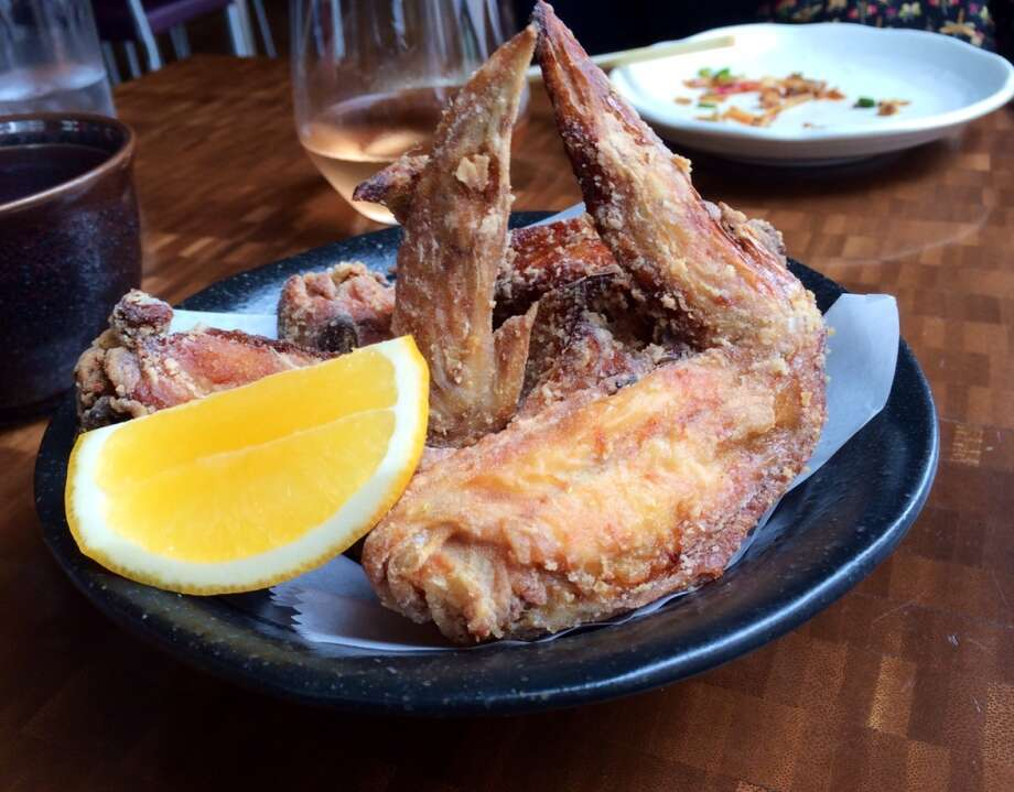 Fried chicken wings with Meyer lemon at Nojo ($8)