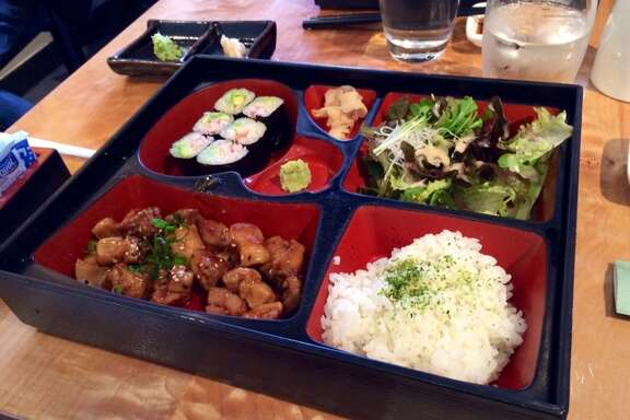 Bento box with teriyaki chicken and California roll at Sushi Ran in Sausalito ($14.50)
