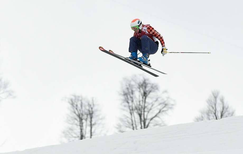 Kelsey Serwa of Canada competes in the Freestyle Skiing Womens' Ski Cross 1/8 Finals on day 14 of the 2014 Winter Olympics at Rosa Khutor Extreme Park on February 21, 2014 in Sochi, Russia. Photo: Lars Baron, Getty Images