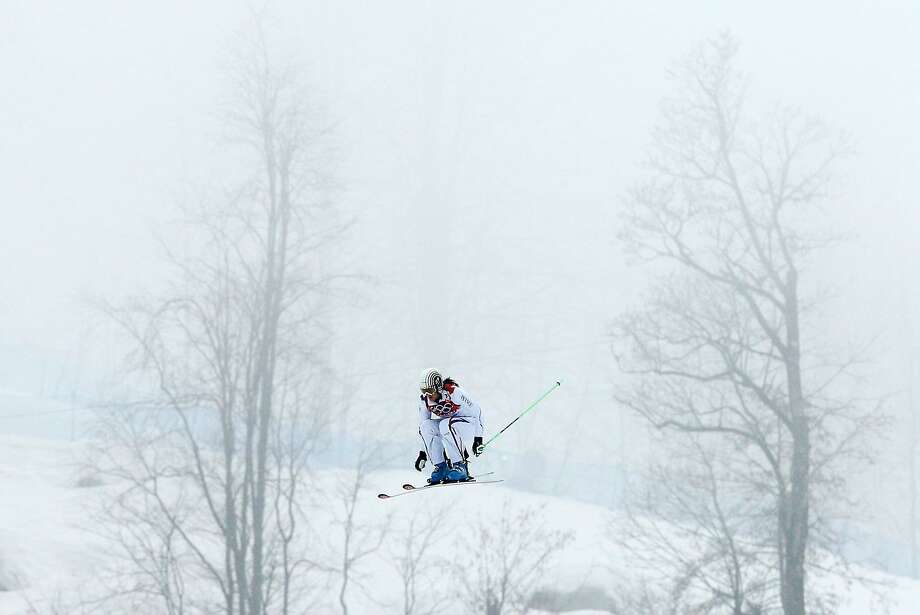 Alizee Baron of France competes in the Freestyle Skiing Womens' Ski Cross Seeding on day 14 of the 2014 Winter Olympics at Rosa Khutor Extreme Park on February 21, 2014 in Sochi, Russia.  Photo: Cameron Spencer, Getty Images