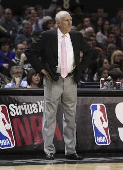 Spurs' coach Gregg Popovich appears upset during the game against the Chicago Bulls at the AT&T Center on Wednesday, Jan. 29, 2014. Photo: Kin Man Hui, San Antonio Express-News