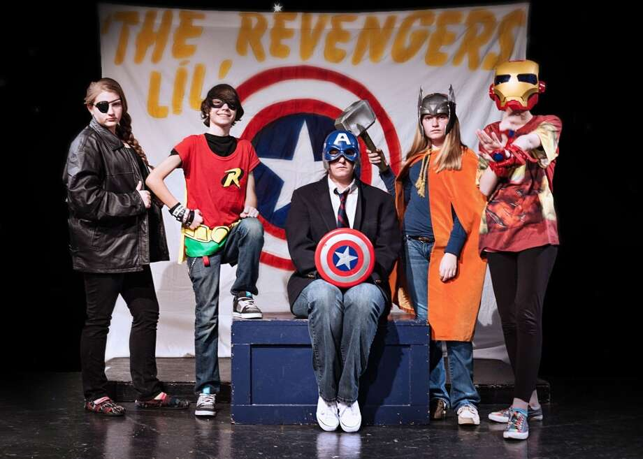 "Kid-friendly superhero show: ""Lil' Revengers Return."" Through Feb. 27, Rose Theatre Company. therosetheatreco.com; 210-360-0004. Courtesy photo. Photo: Karyn Collins Dba Mythology Anth"