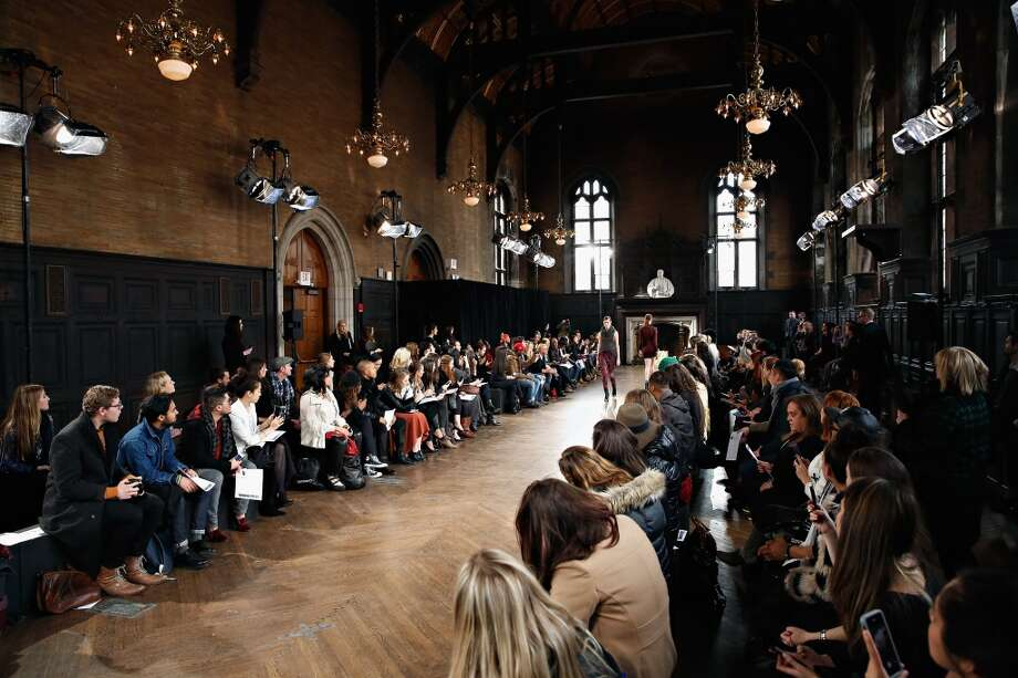 "A view of atmosphere at the Leila Shams fashion show during Mercedes-Benz Fashion Week Fall 2014 at The Highline Hotel on February 12, 2014 in New York City.   Several designers including Timo Weiland and Billy Reid showed at the Downton Abbey-esque brick Tudor revival building. The Chelsea hotel dates back to the mid 1800's and was once a seminary school. The majestic woodwork, marble fireplaces and historic gas lamp lit courtyard bring you back to the era when writer Clement Moore (""Twas the Night Before Christmas"") grew apples in an orchard on the property. Photo: Cindy Ord, Getty Images"