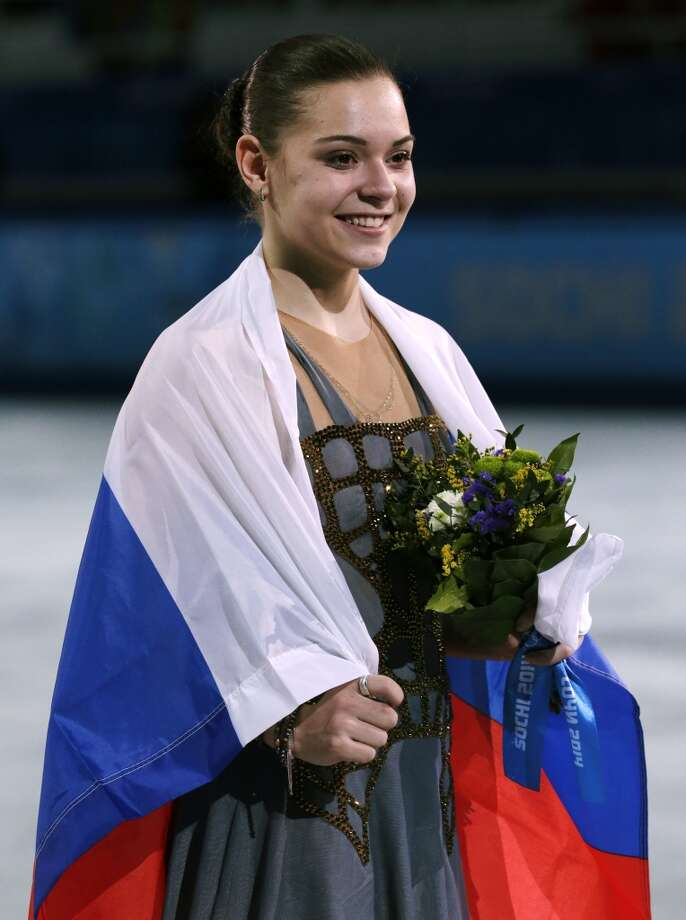 Adelina Sotnikova of Russia celebrates winning the women's free skate figure skating finals at the Iceberg Skating Palace during the 2014 Winter Olympics, Thursday, Feb. 20, 2014, in Sochi, Russia. (AP Photo/Bernat Armangue) Photo: Bernat Armangue, Associated Press