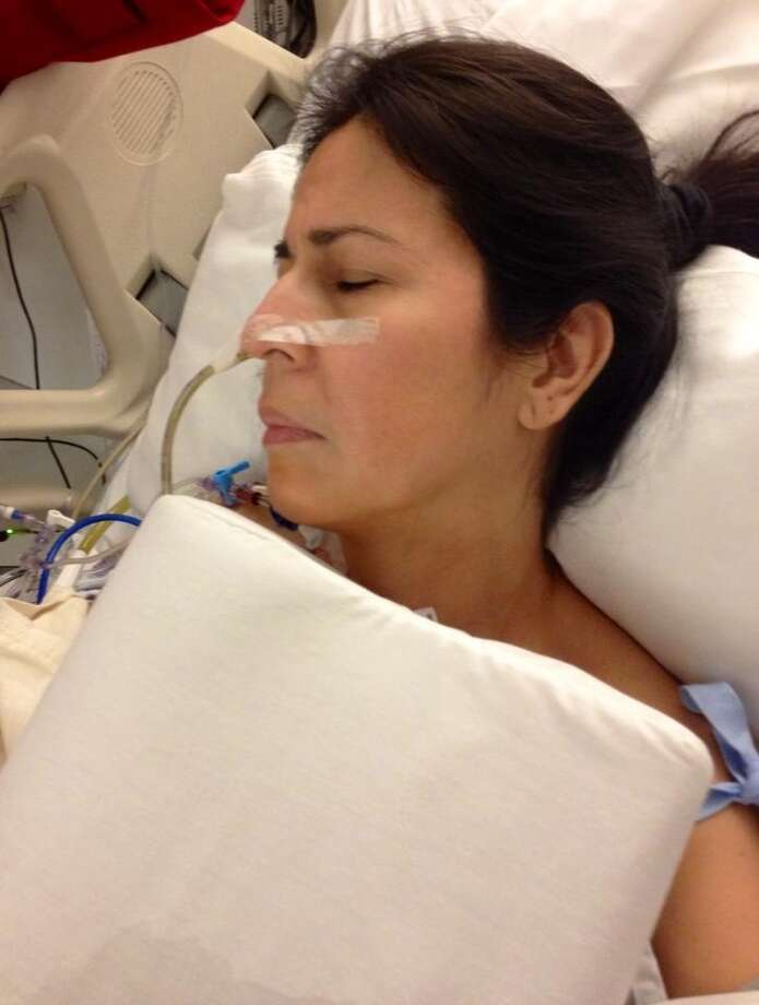 Lisa gets some shut-eye before surgery. Photo: Courtesy