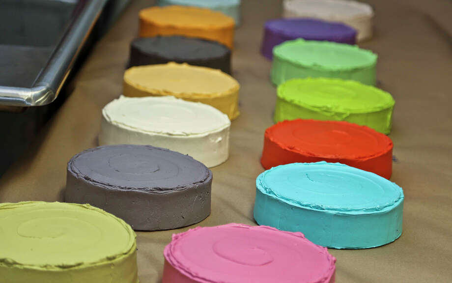 Blue Bottle pastry chef Leah Rosenberg baked 30 cakes in 30 colors for 30 years Photo: CCA/Jim Norrena, 2013 / 2013