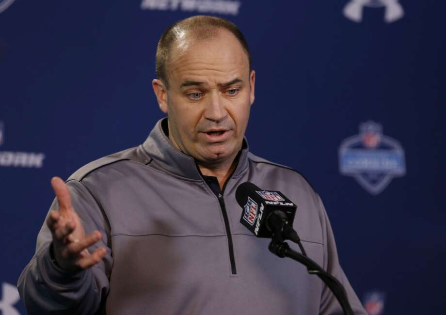Texans head coach Bill O'Brien speaks with the media at the NFL combine. Photo: Michael Conroy, Associated Press
