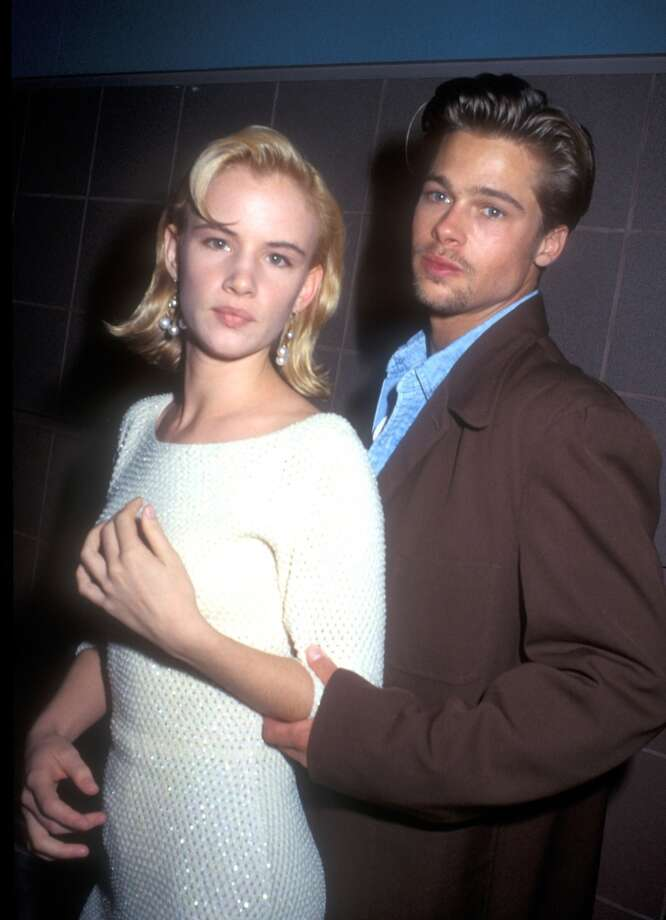 "Before there was Brad and Angelina there was Brad Pitt and his original bad girl girlfriend, Juliette Lewis. The ""Kalifornia"" pair dated from 1990-1993. Photo: Barry King, WireImage"
