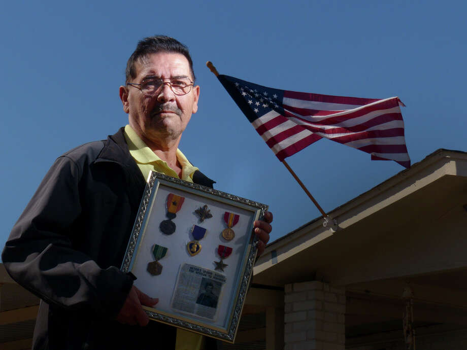 Santiago J. Erevia will receive the Medal of Honor for action in Vietnam in 1969. He holds other decorations that he earned. 