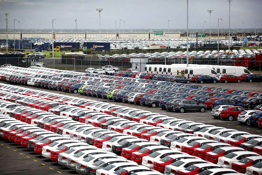 Cars manufactured for export are parked at the port terminal in the gulf city of Veracruz, Mexico. Photo: Felix Marquez, Associated Press