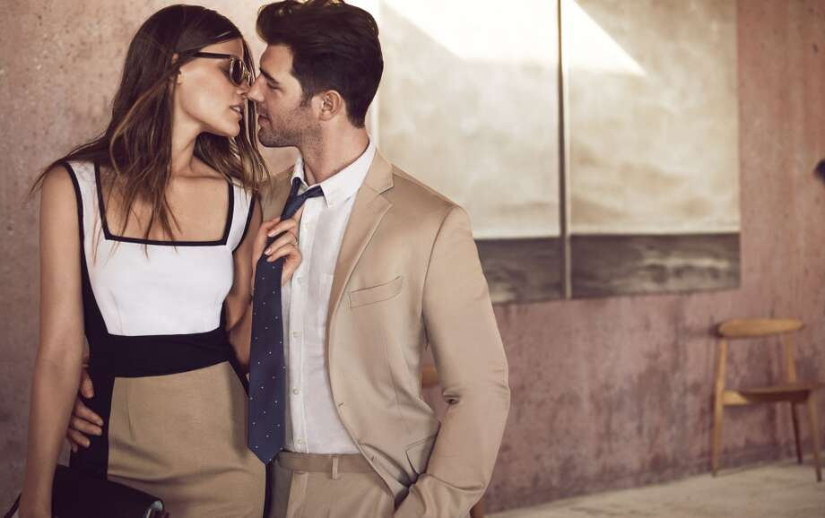 Nashville natives and longtime sweethearts Cory Bond and Bekah Jenkins are among the real-life couples featured in the campaign. Photo: Mikael Jansson, Courtesy Of Banana Republic