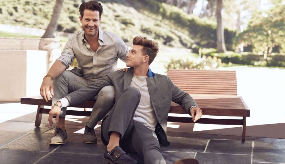 New York City-based partners and interior designers Nate Berkus and Jeremiah Brent were among the real-life couples cast in the campaign. Photo: Mikael Jansson, Courtesy Of Banana Republic