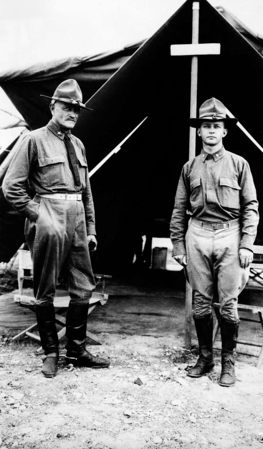 2. By 1891, Pershing was one of the best shooters in the Army, ranking second in pistol shooting and fifth in rifle shooting.PHOTO: Gen. John Pershing (left) and his aide at the headquarters of the Mexican Punitive Expedition whose goal was the capture of Pancho Villa, at Colonia Dublan, Mexico, circa 1916.