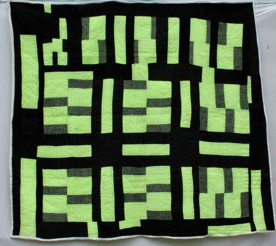 "Handmade quilts and other textile works are now on display at City Lights Gallery in Bridgeport. Above is ""Q Code,"" by famed Gee's Bend quilter Mary Lee Bendolph. Photo: Contributed Photo / Connecticut Post Contributed"