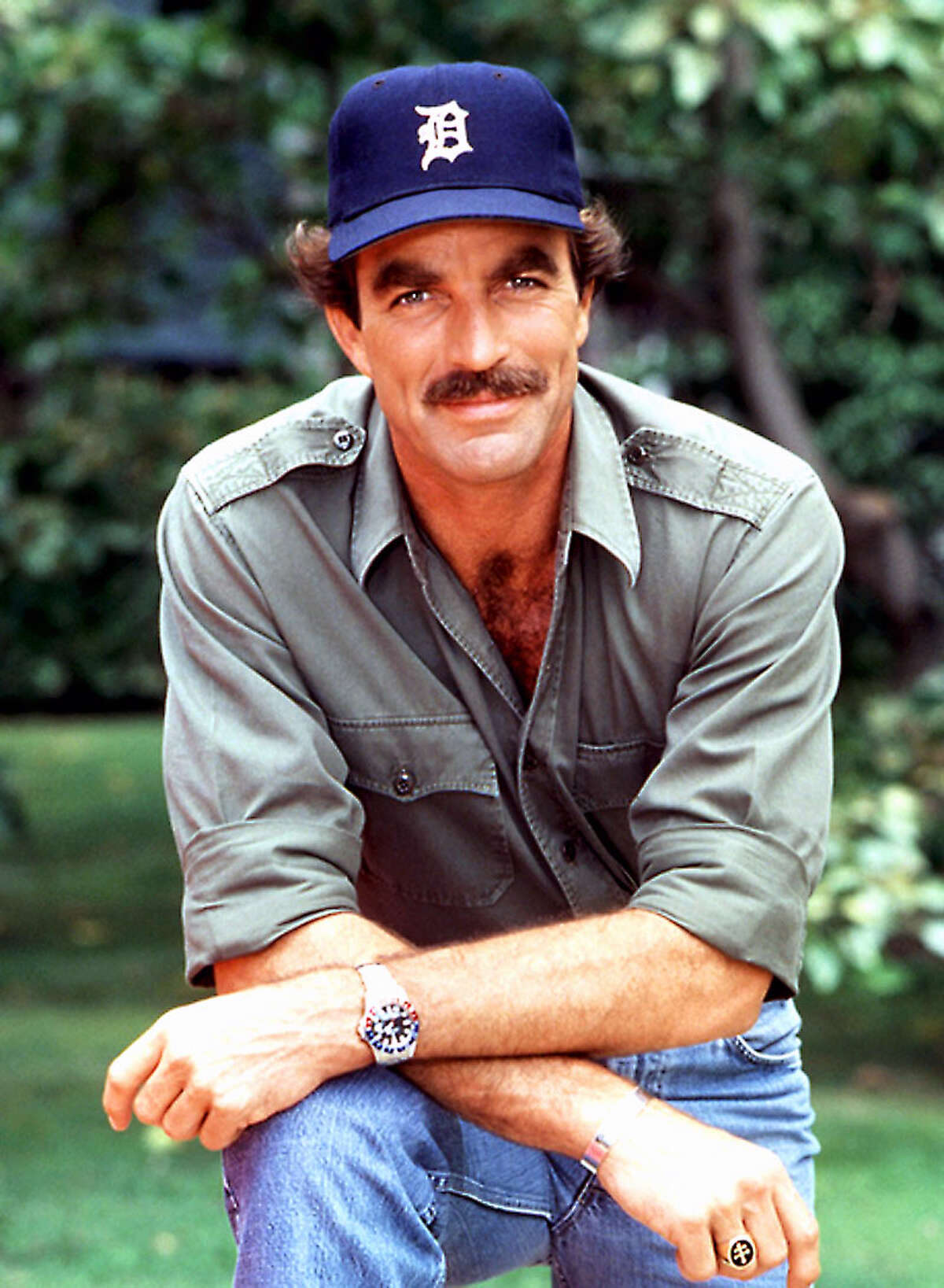 """THE BEST: The Detroit Tigers' old-school """"D"""" logo is the only logo cool enough for Magnum P.I."""