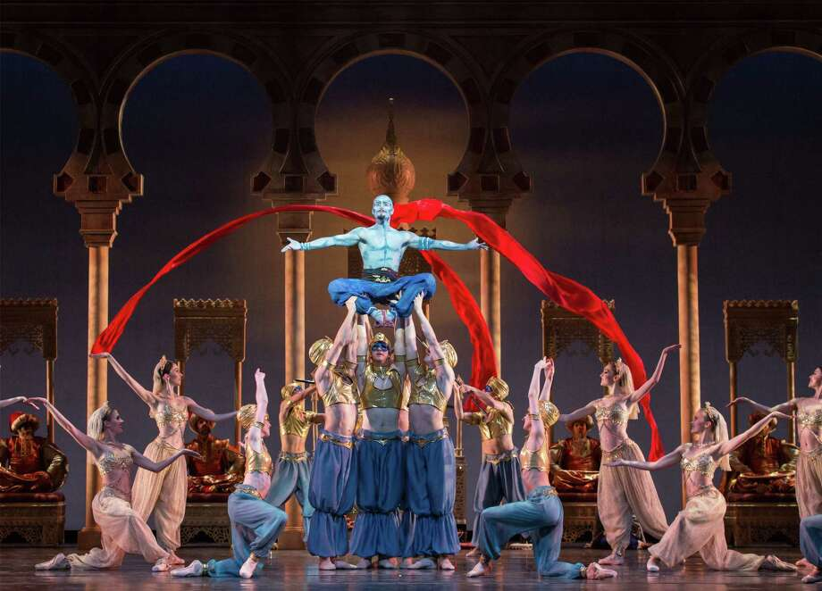 Aladdin: Houston Ballet performs David Bintley's elaborate production. 7:30 p.m. Friday-Saturday, 2 p.m. Sunday; Wortham Theater Center, 501 Texas; Tickets: $19-$170; 713-227-2787; houstonballet.org Photo: Amitava Sarkar / ONLINE_YES